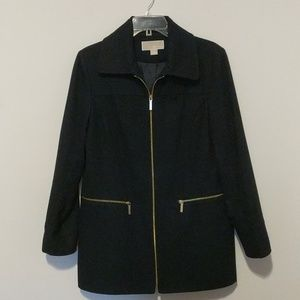 MICHAEL Michael Kors Navy Wool Peacoat Car Coat